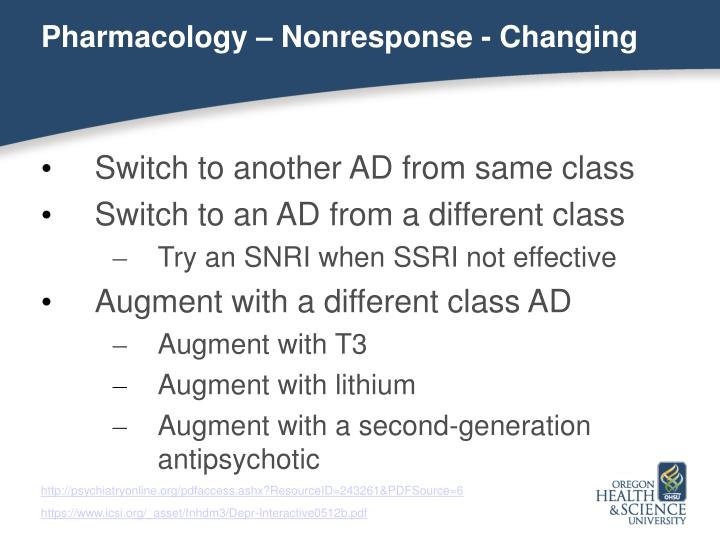 Pharmacology – Nonresponse - Changing