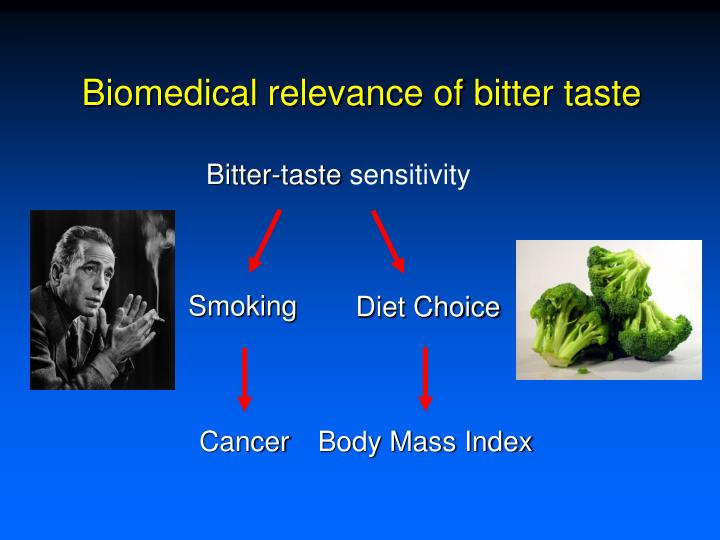 Biomedical relevance of bitter taste