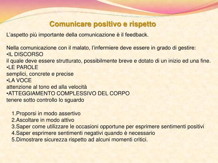 Comunicare positivo e rispetto