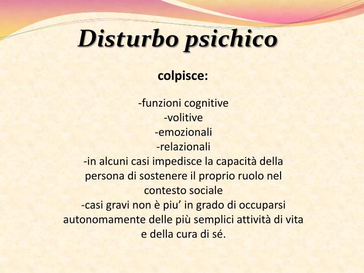 Disturbo psichico