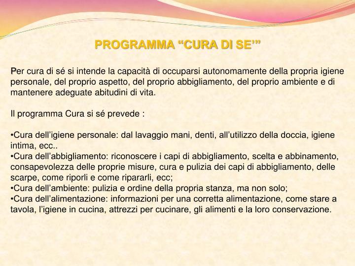 "PROGRAMMA ""CURA"