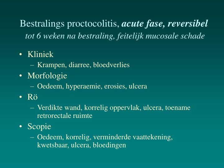 Bestralings proctocolitis,