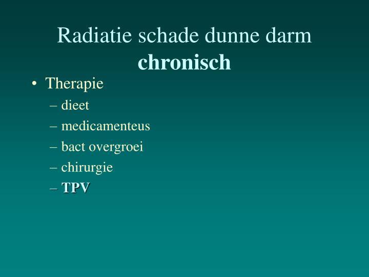 Radiatie schade dunne darm