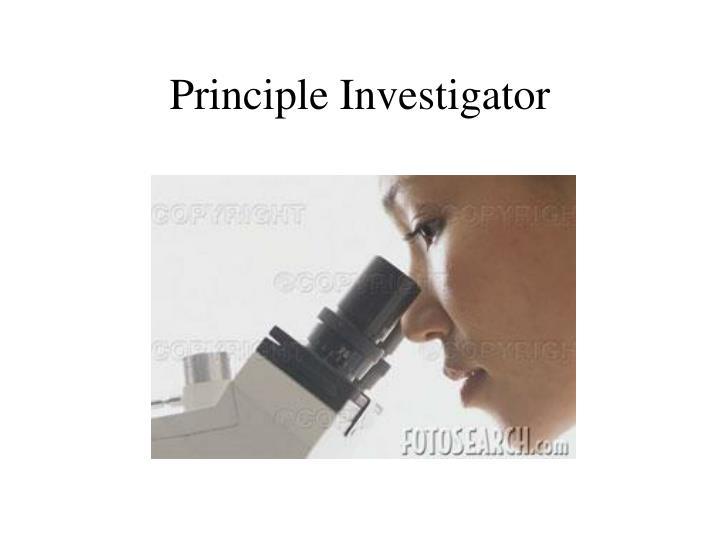 Principle Investigator