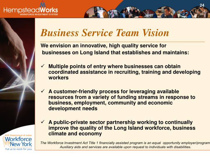 Business Service Team Vision