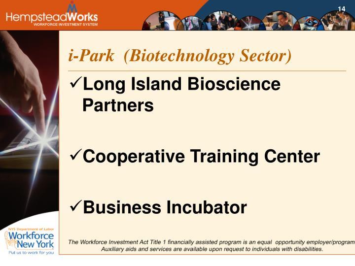 i-Park  (Biotechnology Sector)