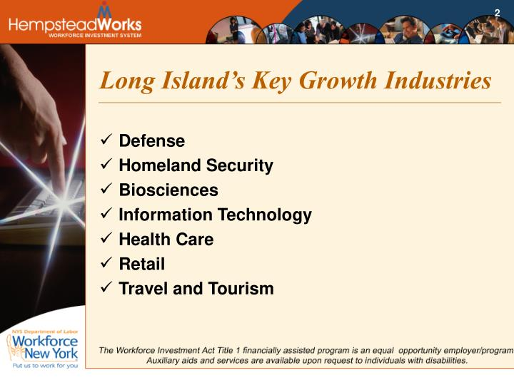 Long island s key growth industries