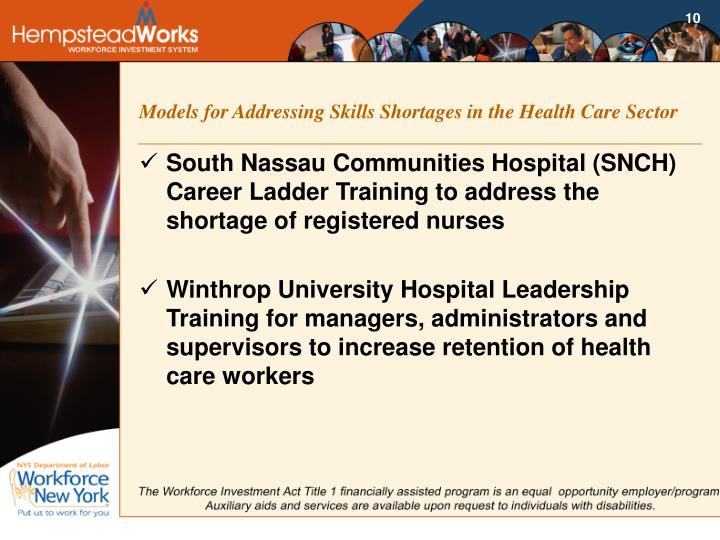 Models for Addressing Skills Shortages in the Health Care Sector
