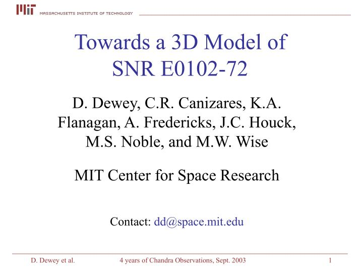 Towards a 3d model of snr e0102 72