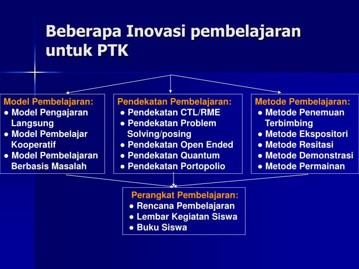 Beberapa Inovasi pembelajaran untuk PTK