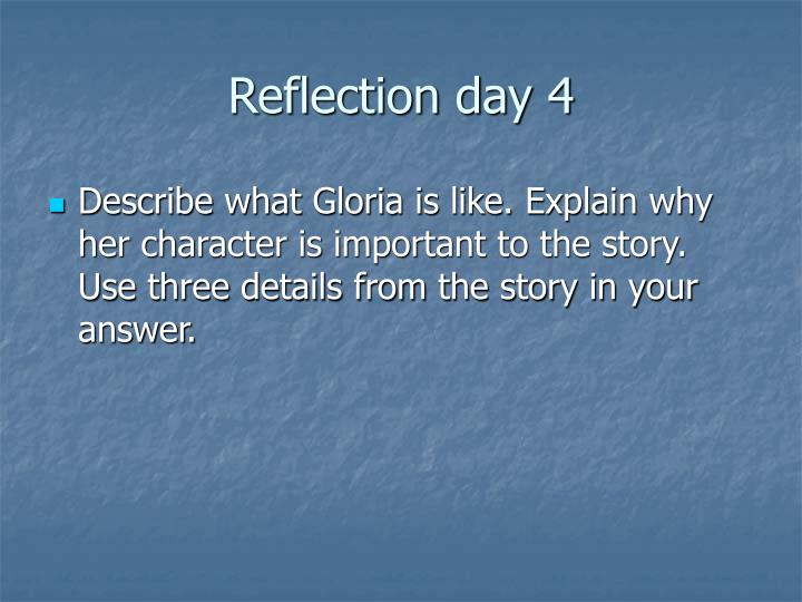 Reflection day 4