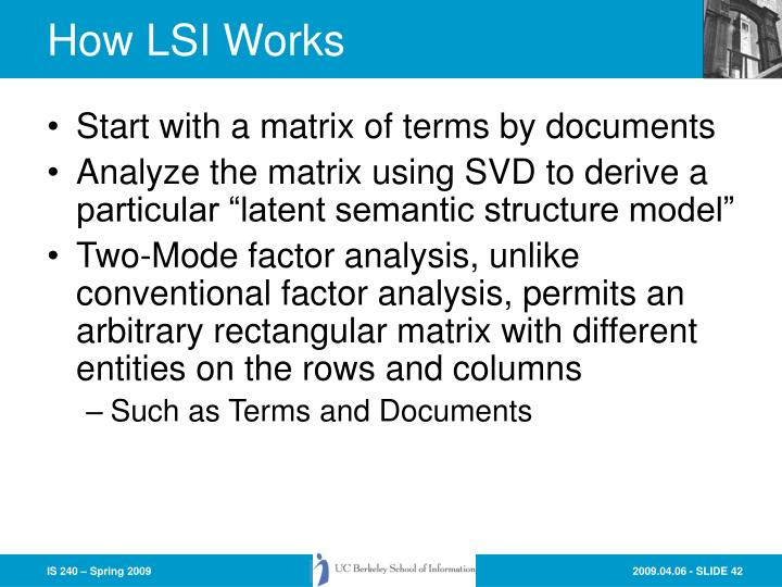 How LSI Works