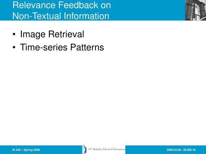 Relevance Feedback on