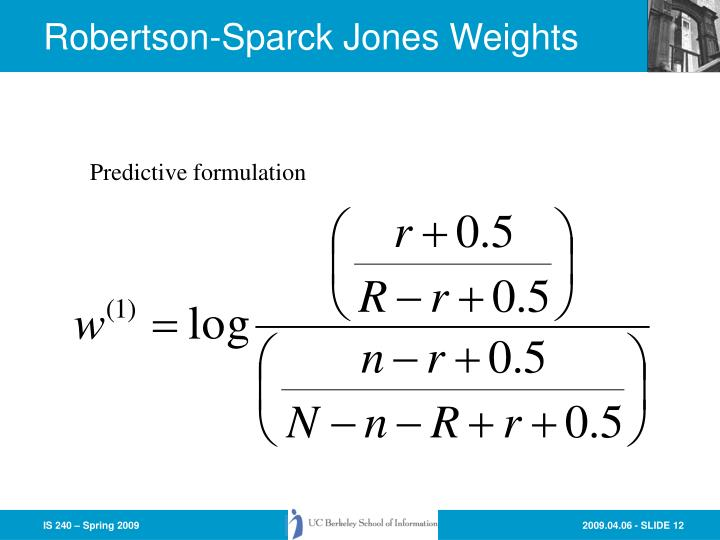 Robertson-Sparck Jones Weights