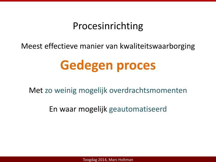 Procesinrichting
