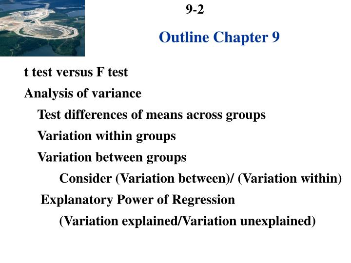 Outline Chapter 9