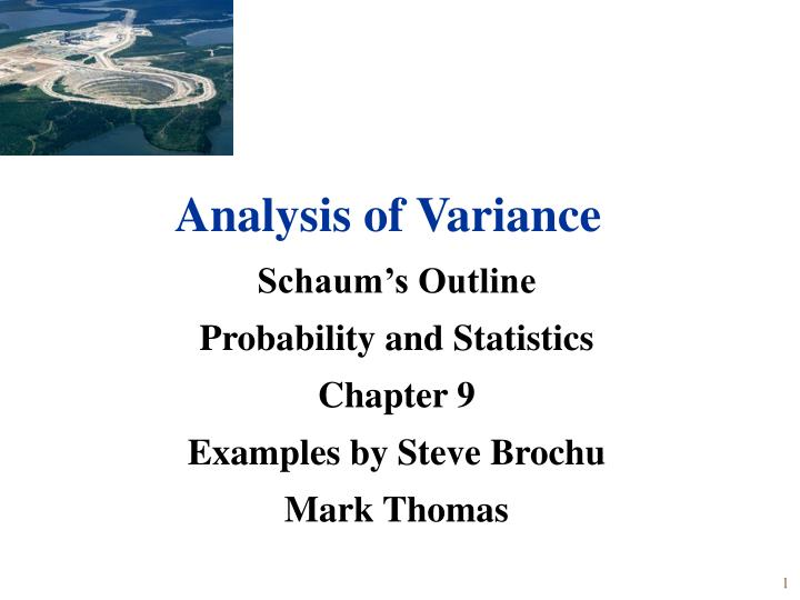 Schaum s outline probability and statistics chapter 9 examples by steve brochu mark thomas