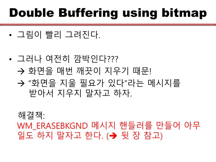 Double Buffering using bitmap