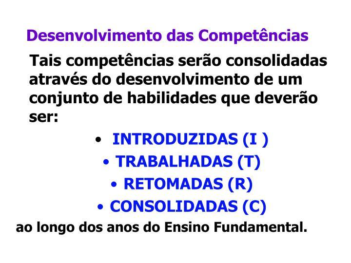 Desenvolvimento das Competências