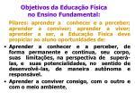 objetivos da educa o f sica no ensino fundamental