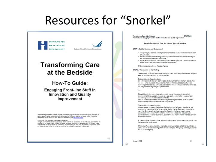 "Resources for ""Snorkel"""