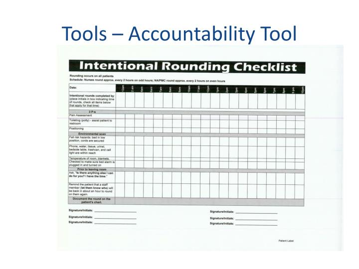 Tools – Accountability Tool