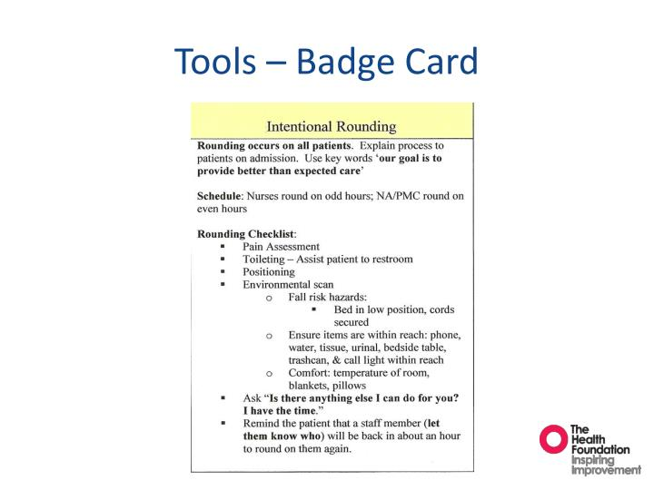Tools – Badge Card