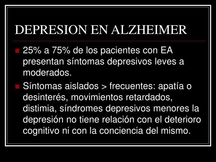 DEPRESION EN ALZHEIMER