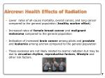 aircrew health effects of radiation