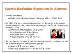 cosmic radiation exposures in aircrew
