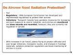 do aircrew need radiation protection