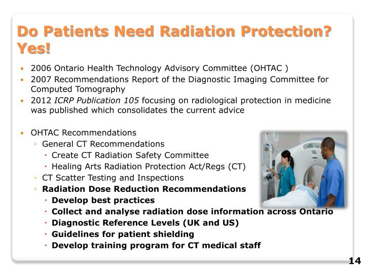 Do Patients Need Radiation Protection? Yes!