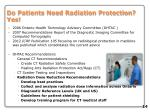 do patients need radiation protection yes
