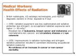 medical workers health effects of radiation