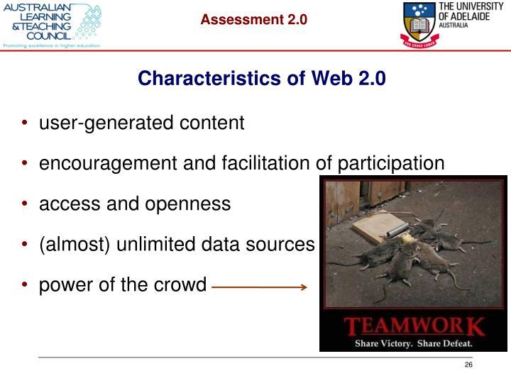 Characteristics of Web 2.0