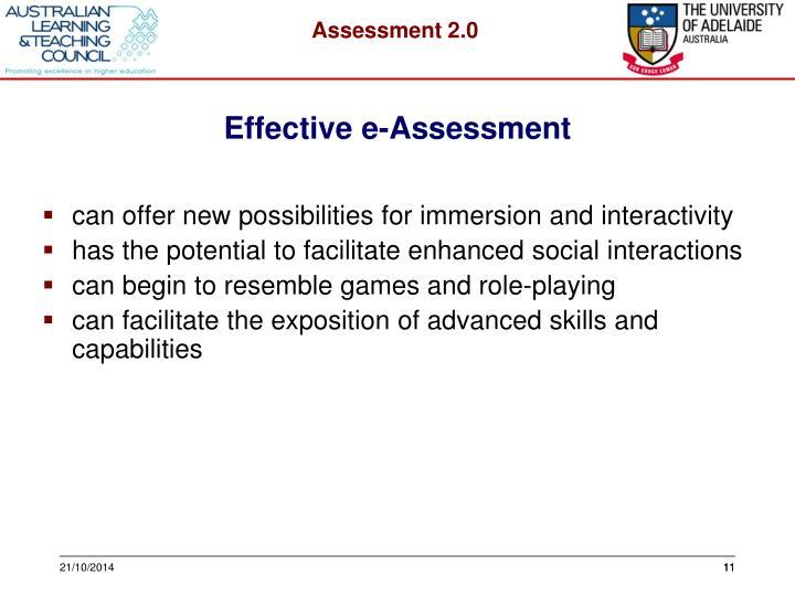 Effective e-Assessment