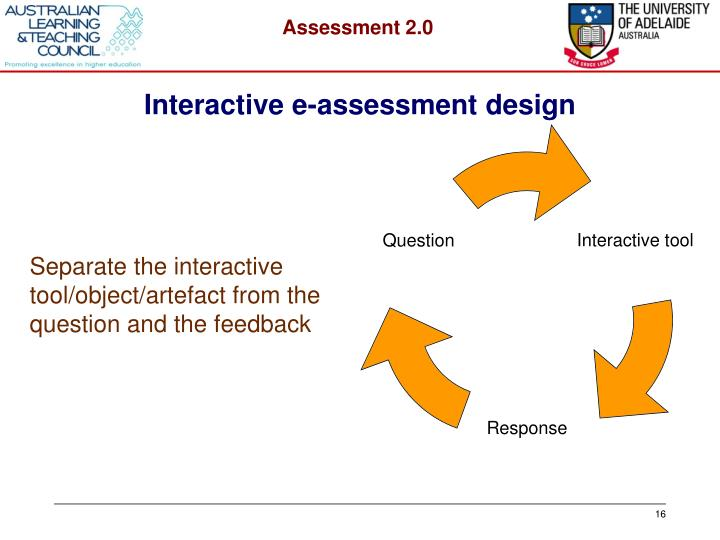 Interactive e-assessment design