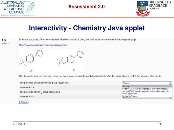 Interactivity - Chemistry Java applet