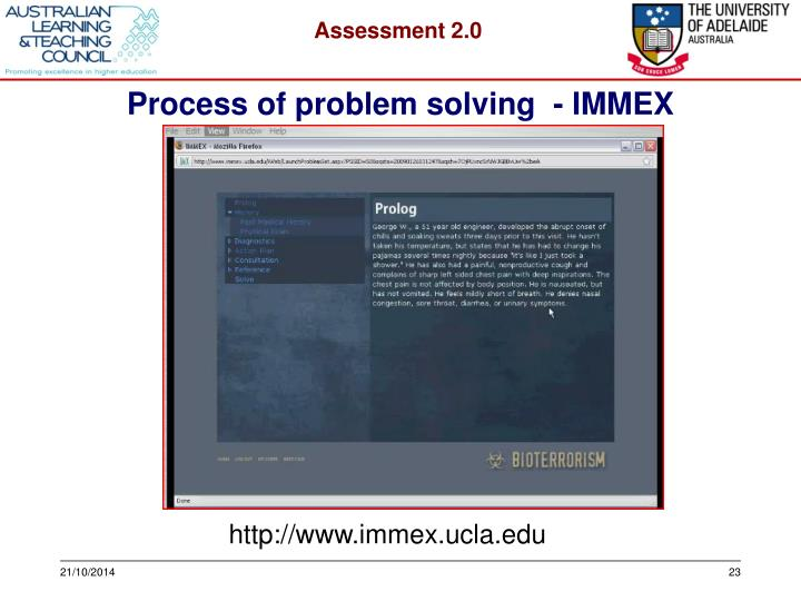Process of problem solving  - IMMEX