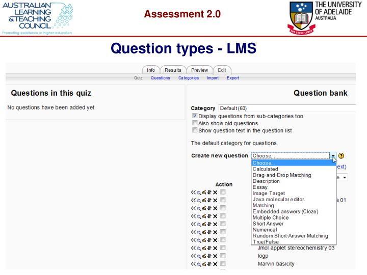 Question types - LMS