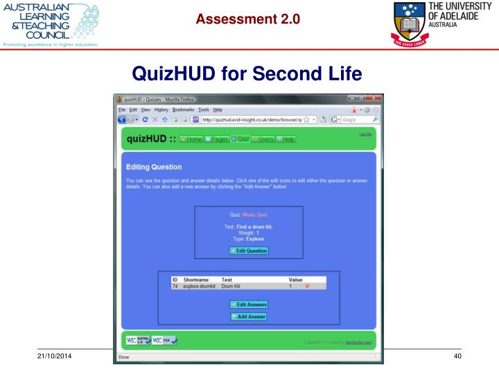 QuizHUD for Second Life