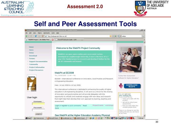 Self and Peer Assessment Tools