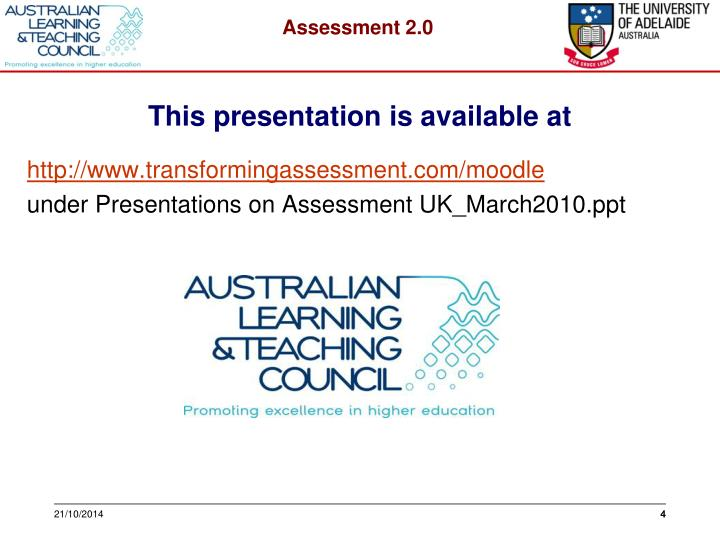 This presentation is available at