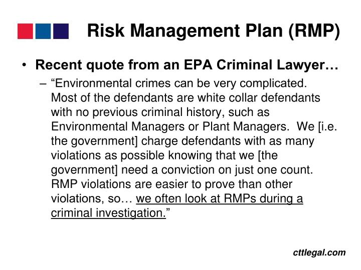 Risk Management Plan (RMP)