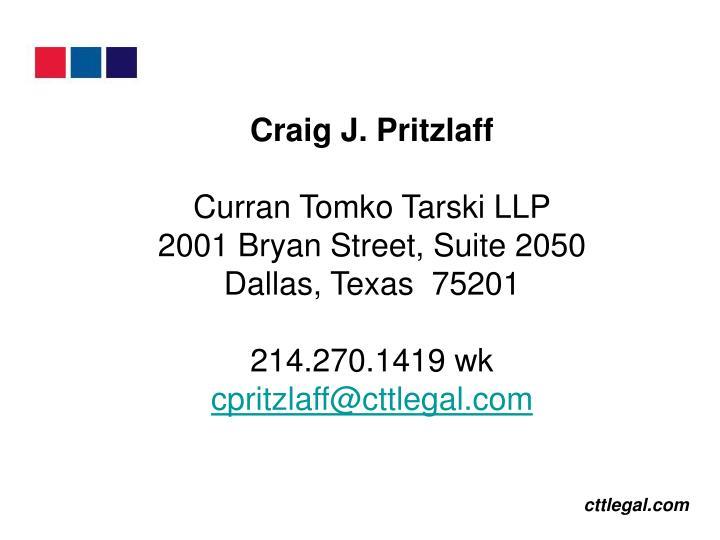 Craig J. Pritzlaff
