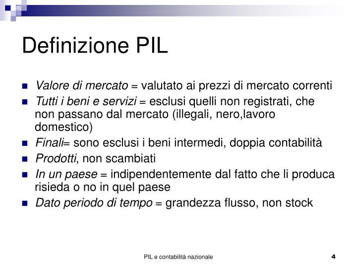 Definizione PIL