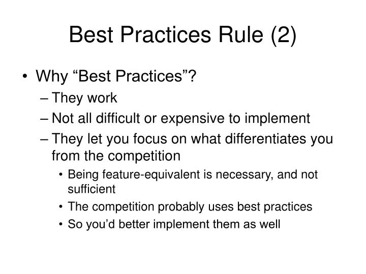 Best Practices Rule (2)