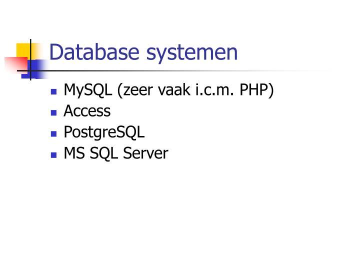 Database systemen