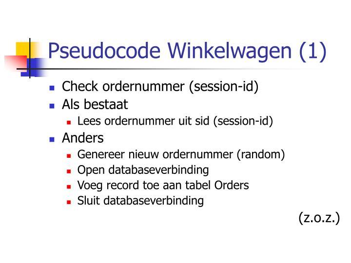 Pseudocode Winkelwagen (1)