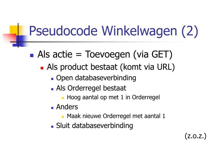 Pseudocode Winkelwagen (2)